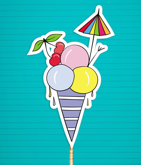 """Аксессуар для фотосессии """"Мороженое"""""""