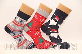 Мужские махровые новогодние носки НЛ хлопковые