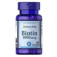Витамины Puritans Pride Biotin 1000mcg, 100tabl, фото 1