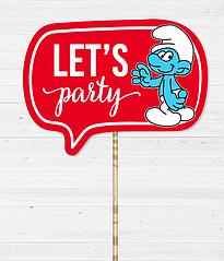 """Табличка для фотосессии """"Let's Party"""""""