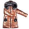 Детская зимняя куртка для девочки блестящая, фото 2
