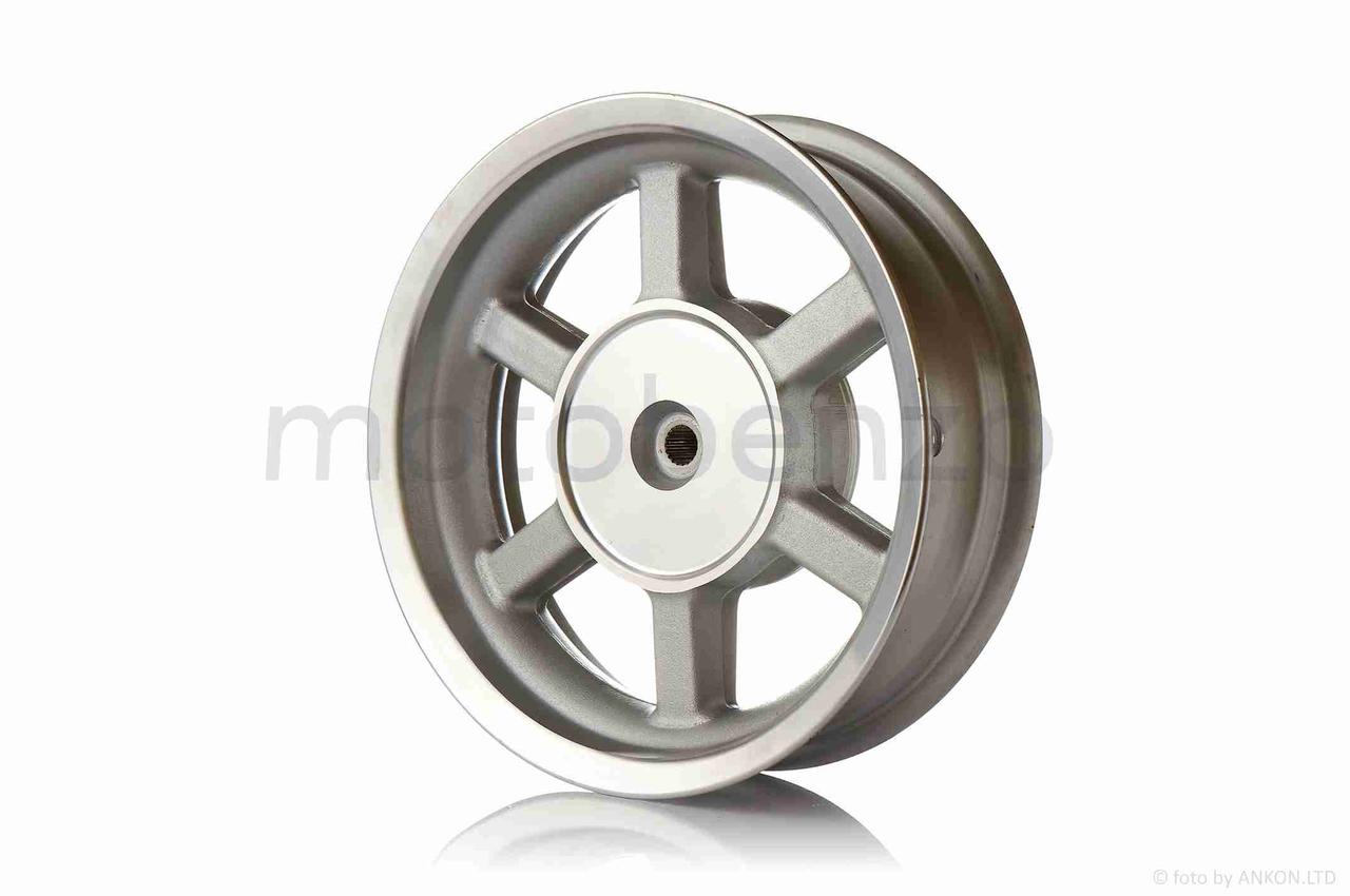 """Диск колеса задний  12""""-3.50  литой, 19 шлицов, 6 спиц, барабан 130mm"""