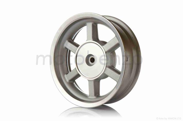 """Диск колеса задний  12""""-3.50  литой, 19 шлицов, 6 спиц, барабан 130mm, фото 2"""