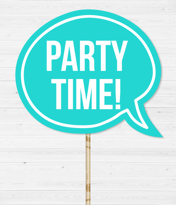 "Табличка для фотосессии ""Party time!"""