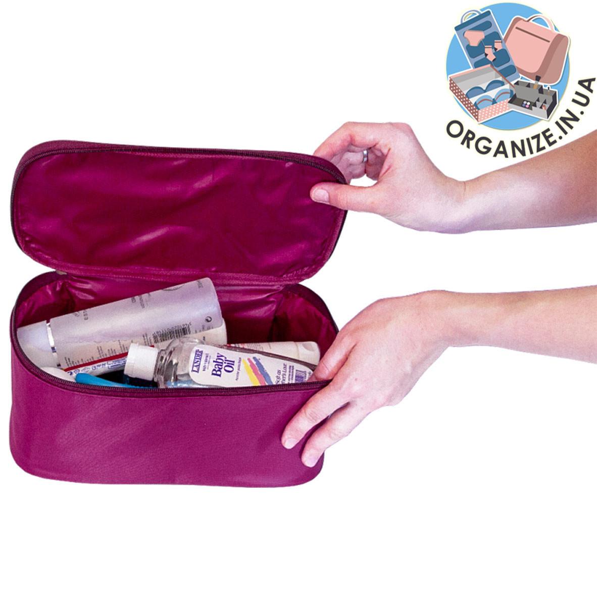 Вместительный органайзер для косметики и лекарств ORGANIZE (винный)