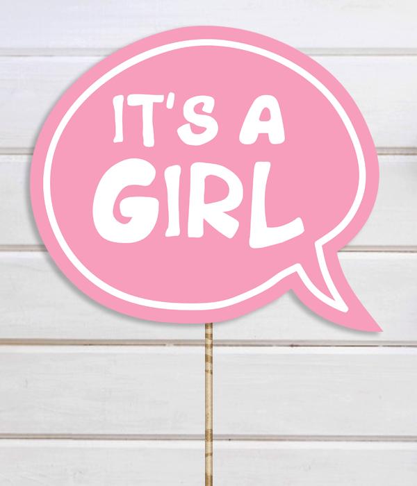 "Табличка для фотосессии ""It's a Girl"""