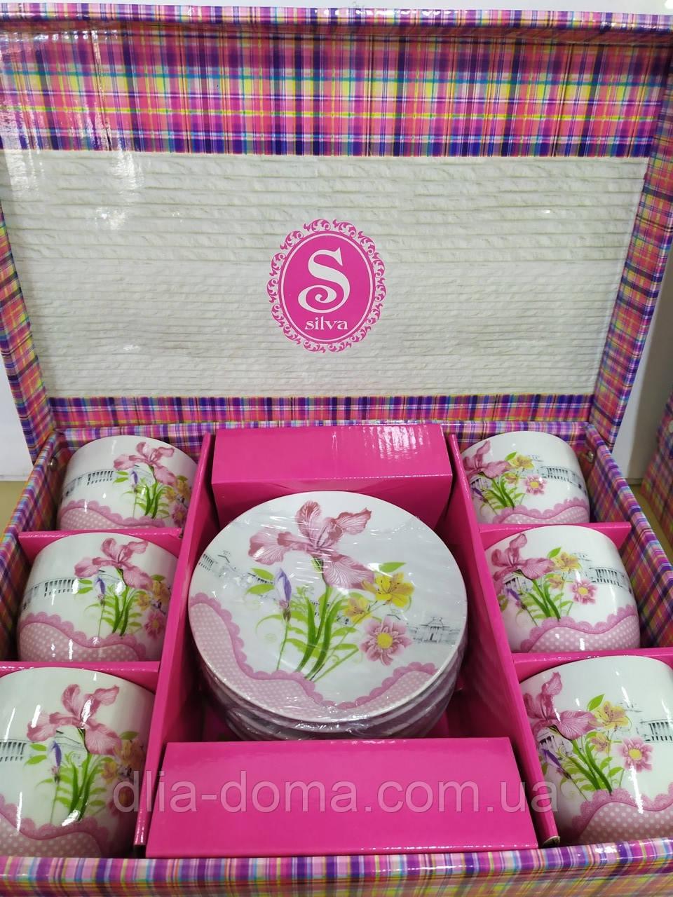 Сервиз чайный 12 предметов Цветы