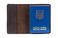 Кожаная обложка для паспорта шоколад
