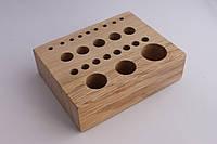 Деревянный настольный органайзер для инструментов 15 см*12 см*4,3 см, артикул СК 6100