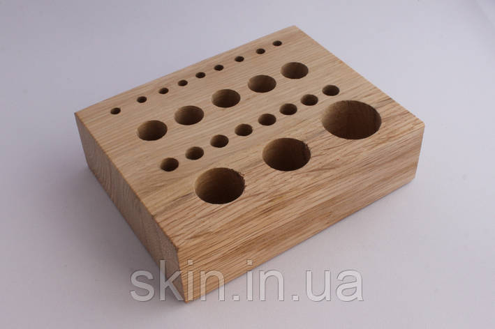 Дерев'яний настільний органайзер для інструментів 15 см*12 см*4,3 см, артикул СК 6100, фото 2