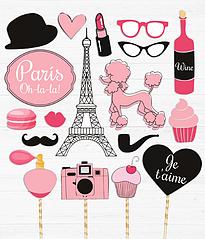 """Набор аксессуаров для фотосессии """"Один день в Париже"""""""