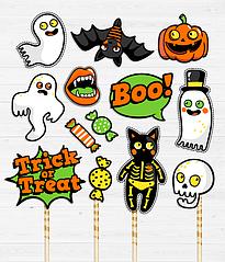 Набор аксессуаров для фотосессии на Halloween