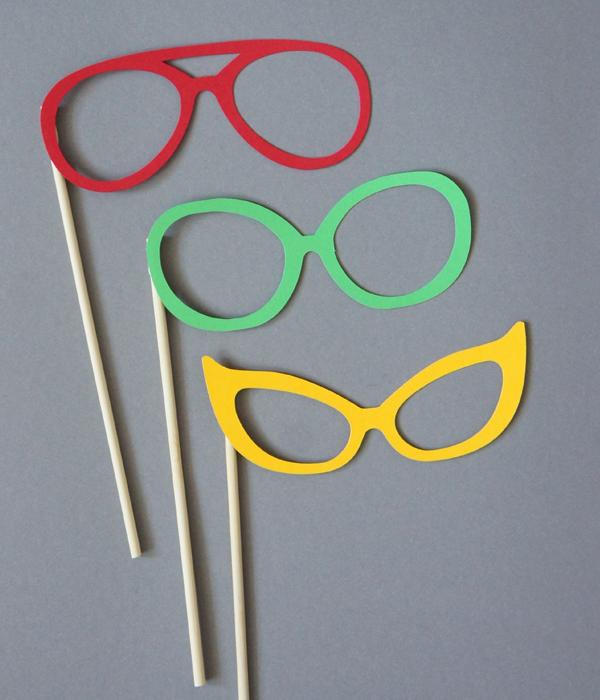 Набор аксессуаров-очков для фотосессии (любые цвета)