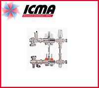 """Коллекторная группа с расходомерами 1""""на 2 контура Icma № К0111"""