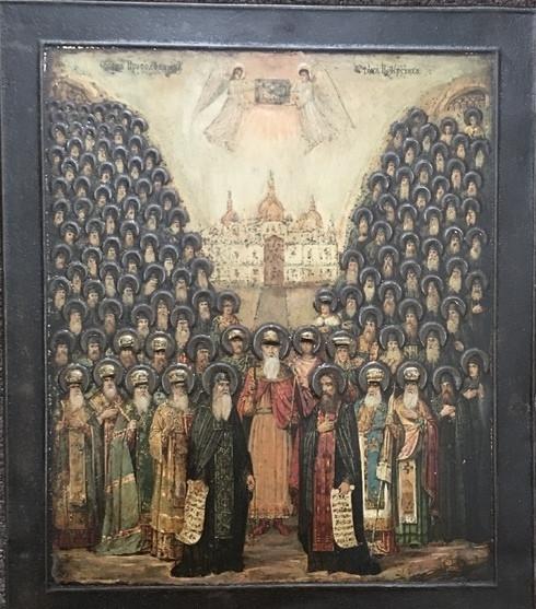 Икона Собор святых Киево-Печерской Лавры 19 век