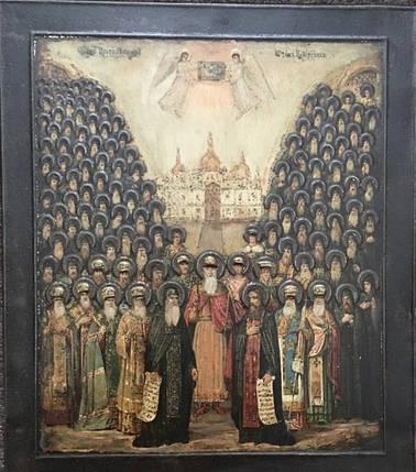 Икона Собор святых Киево-Печерской Лавры 19 век, фото 2