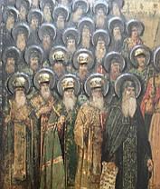 Икона Собор святых Киево-Печерской Лавры 19 век, фото 3