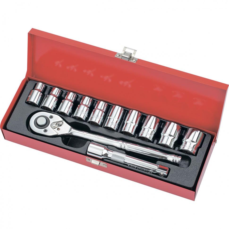 """Набор торцевых головок, 1/2"""", головки 10 - 24 мм, с трещоточным ключом, 12 предметов MTX 135269"""