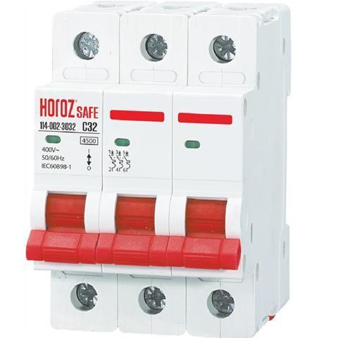 """Автоматичний вимикач Horoz """"SAFE"""" 32А 3P З"""