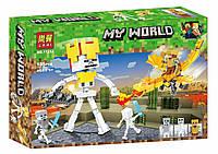 "Конструктор Bela (Lari) 11264 ""Битва с Королем Скелетов"" (реплика Lego Майнкрафт, Minecraft), 185 дет"