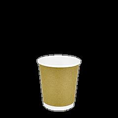Стакан бумажный двухслойный Крафт 180мл. 70шт/уп (1ящ/23уп/1610шт) (КР72)
