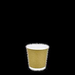 Стакан бумажный двухслойный Крафт 110мл. 30шт/уп (1ящ/54уп/1620шт)