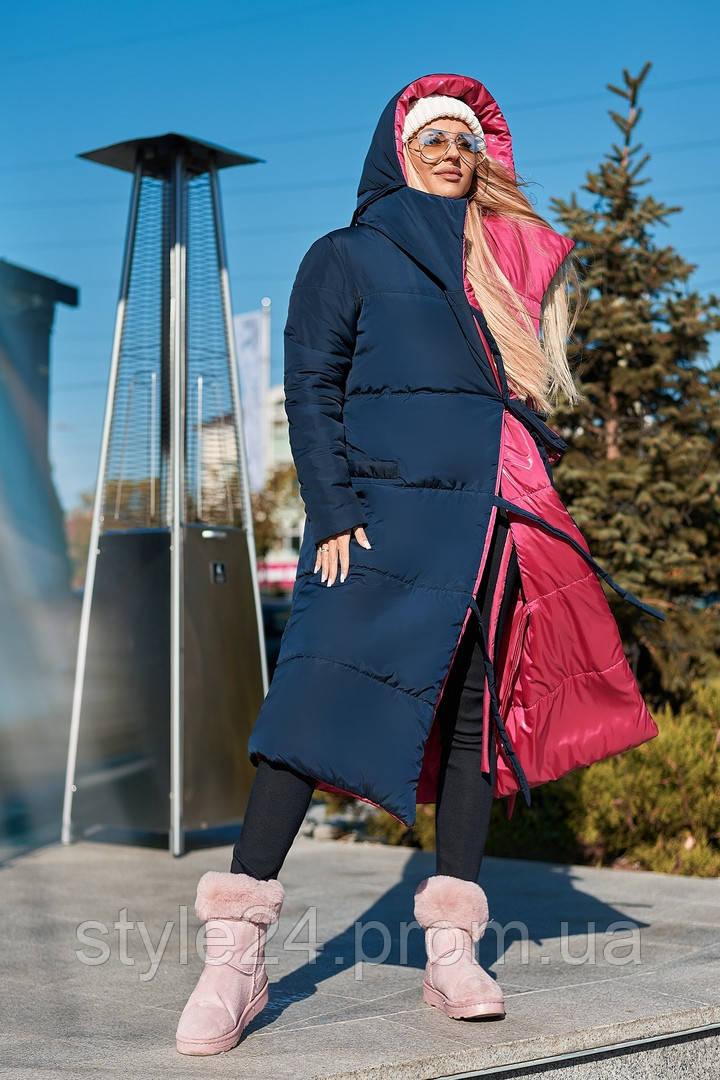 Двостороннє жіноче зимове пальто.Розміри 42-60