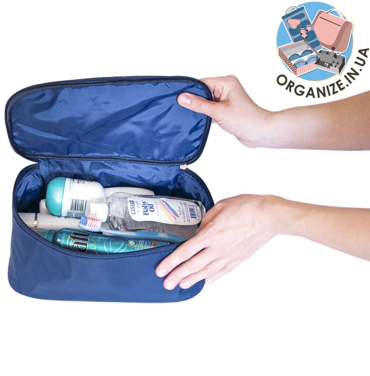 Прямоугольный дорожный органайзер для лекарств ORGANIZE (синий)