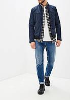 Куртка мужская демисезонная ветровка плащевка синяя Diesel (Размер 50-52 (L))