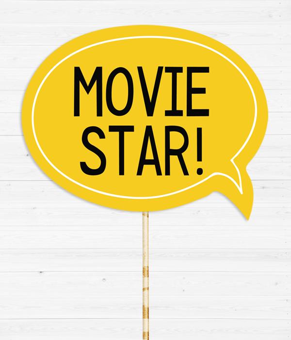"Табличка для фотосессии ""Movie star!"""