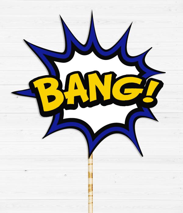"Табличка для фотосесії ""BANG"""