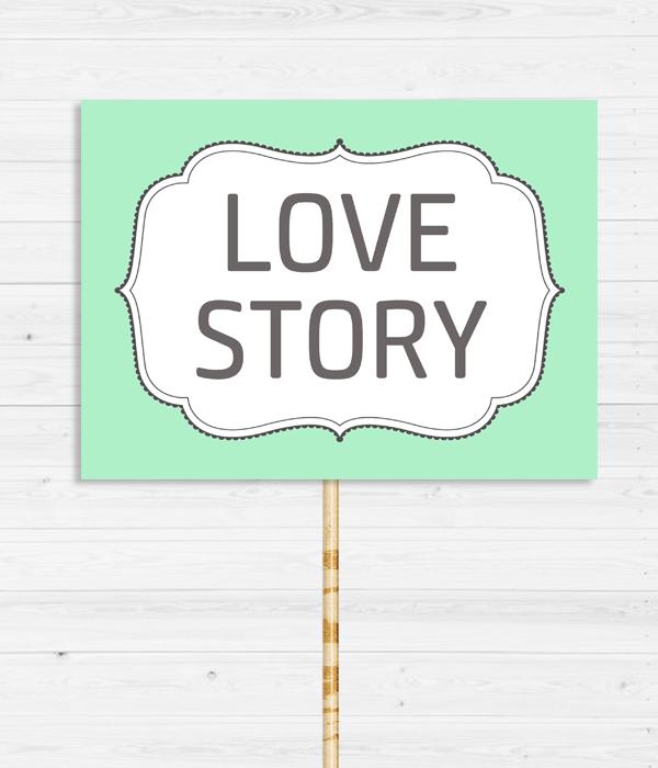 """Табличка для весільної фотосесії """"Love story"""""""