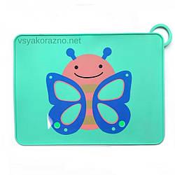 Детский сервировочный коврик бабочка на стол (зеленый)