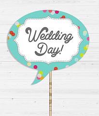 """Табличка для весільної фотосесії """"Wedding day!"""""""