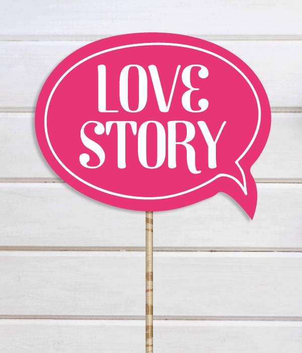 """Табличка для свадебной фотосессии """"Love Story"""""""
