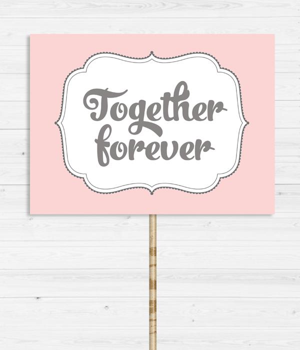 """Табличка для фотосессии """"Together forever"""""""