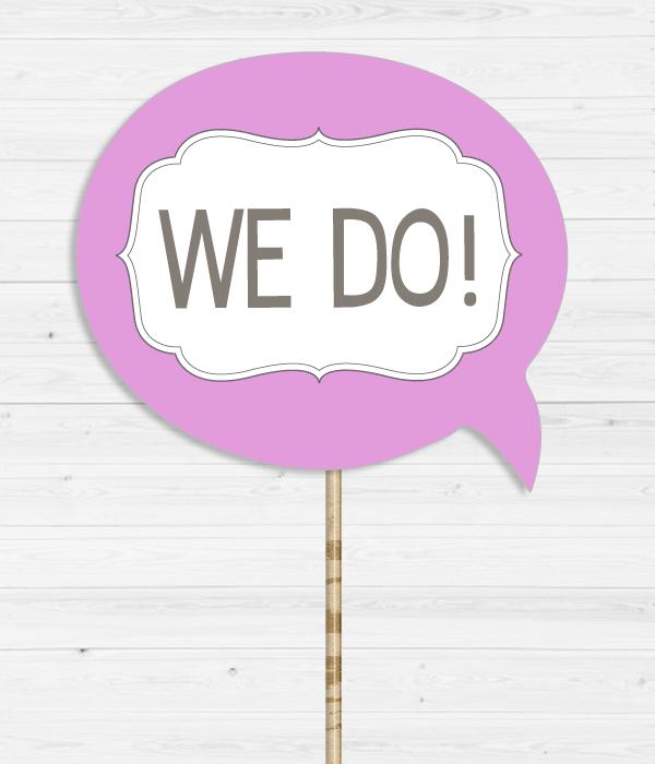"""Табличка для весільної фотосесії """"We do!"""""""