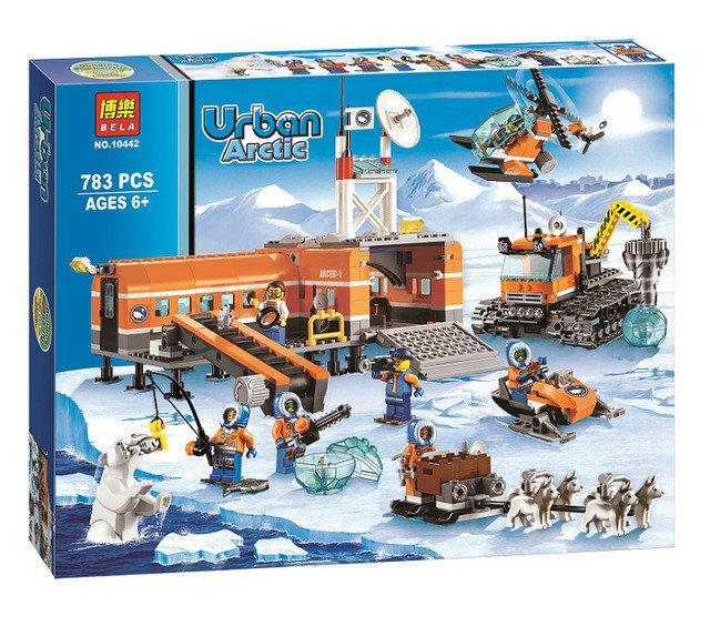 """Конструктор Bela 10442 """" Арктический лагерь"""" 783 деталей. Аналог Lego City 60036"""