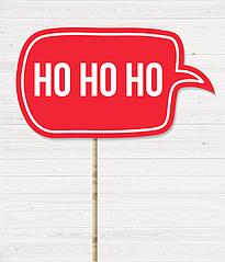 """Табличка для новогодней фотосессии """"HO HO HO"""""""
