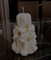 Свеча церковная с крестиком, ручная работа