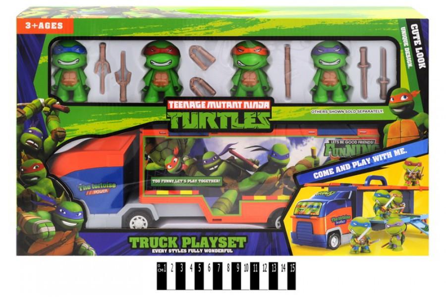 Игровой набор Автовоз Трейлер Черепашек Ниндзя с фигурками H4488