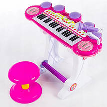 Детский синтезатор, пианино со стульчиком + микрофон + USB + MP3 + караоке Kinderplay, фото 3