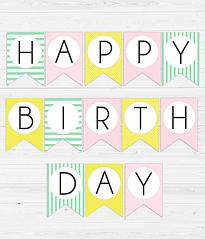 """Гирлянда из флажков """"Happy Birthday!"""" (2 цвета)"""