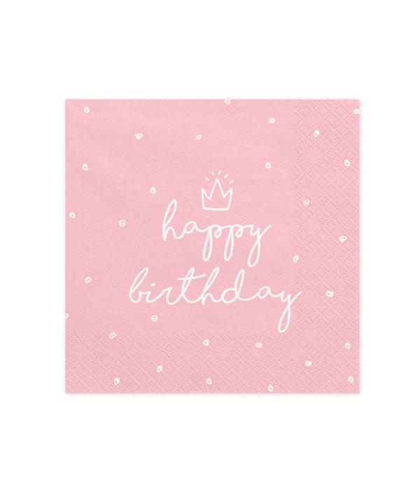 "Бумажные салфетки ""Happy Birthday"" (10 шт.)"