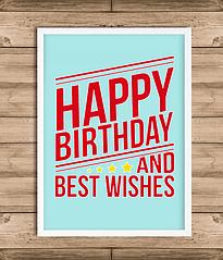 """Постер """"Happy Birthday and best wishes"""""""
