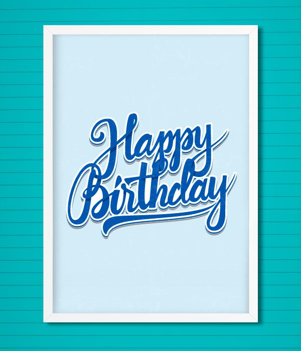"""Постер """"Happy Birthday"""""""