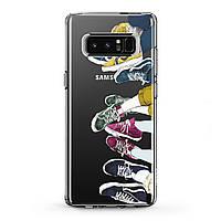 Чехол силиконовый для Samsung Galaxy (Разноцветные кроссовки) Note 10 Plus 5G/s6 Edge+/s7/s8 Activ/s9/s10e