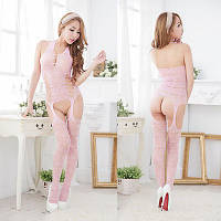 Эротическое белье:сетка нежно розовая- боди с доступом!