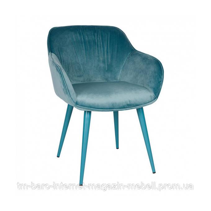 Кресло CARINTHIA (60*63*77,5 cm текстиль) темно-бирюзовый, Nicolas