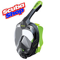 Полнолицевая маска SEAC Unica Black-Lime для сноркелинга, фото 1